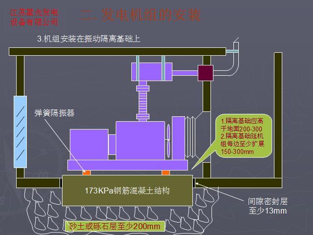 康明斯柴油发电机组的安装